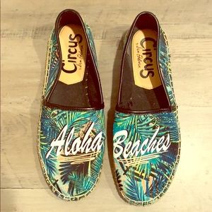 Printed Espadrille flats